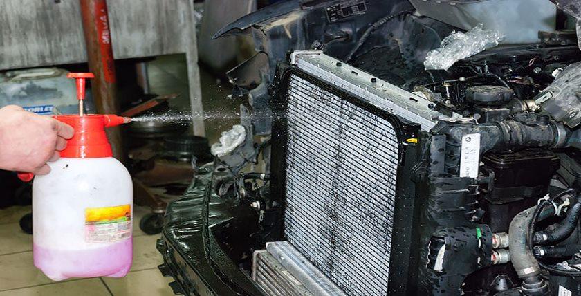 Чистка радиатора авто